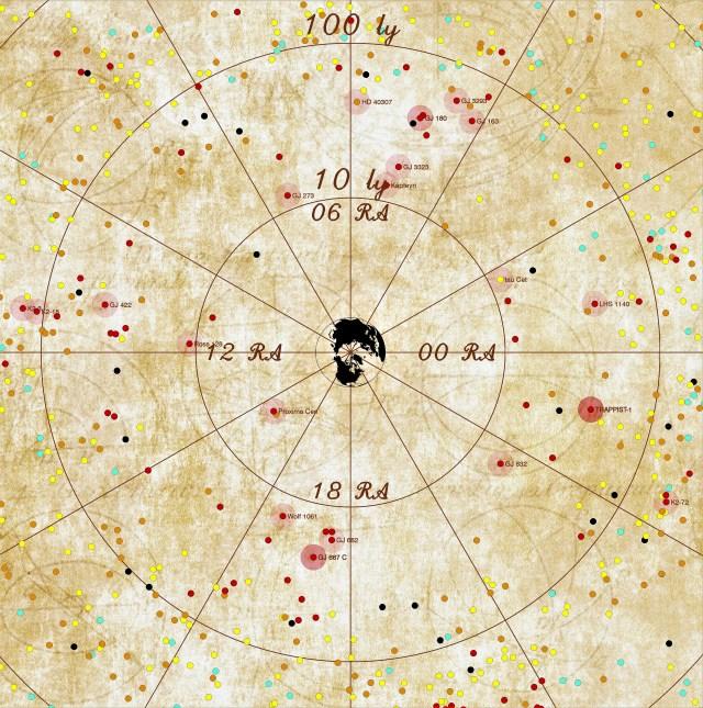Habitable planet map