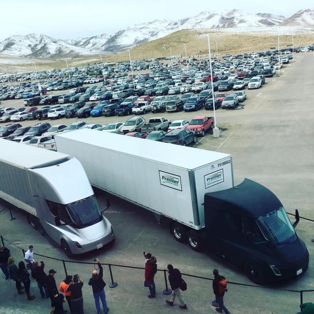 Tesla Semi trucks