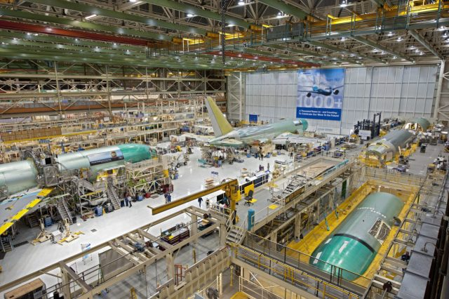 Boeing 767s in factory
