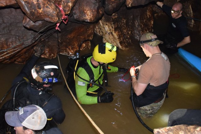Rescuers in Thailand