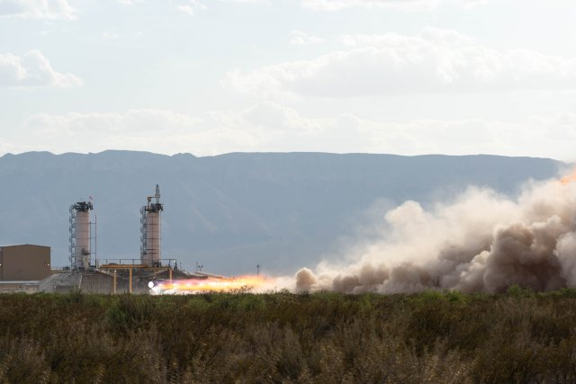 Blue Origin engine test