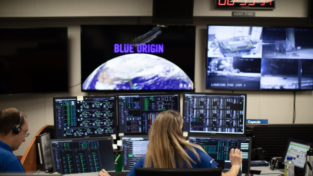 Blue Origin mission control