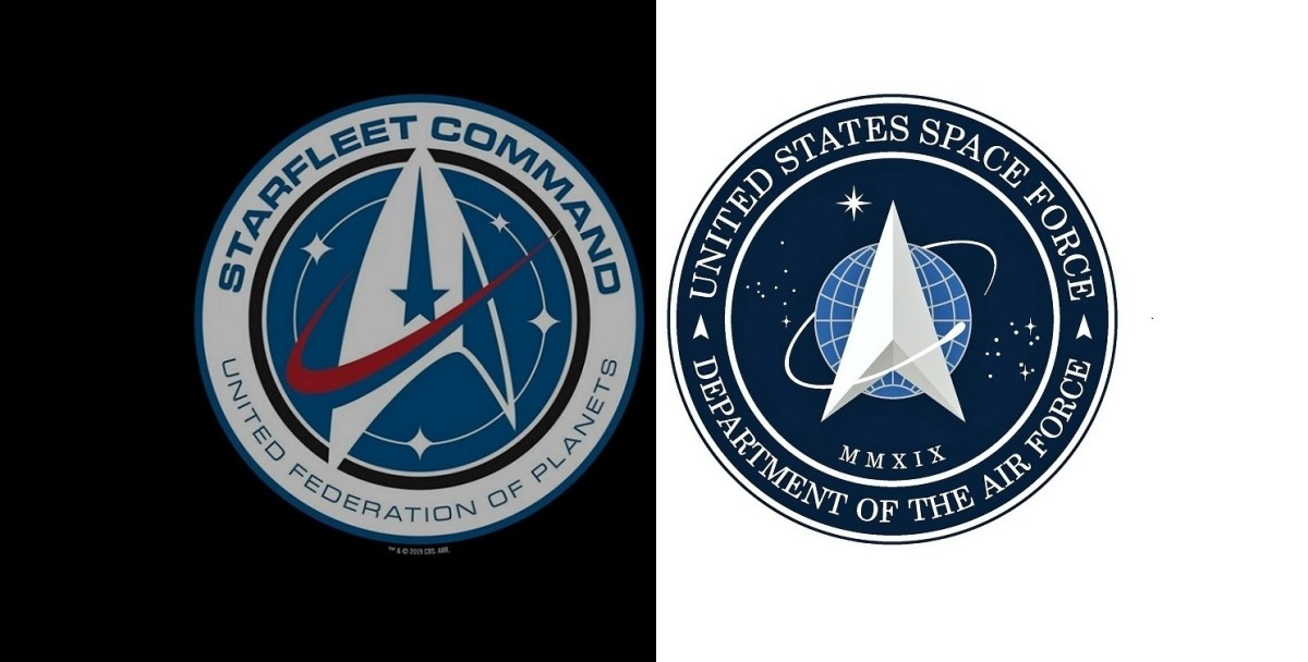 Starfleet Command and Space Force seals