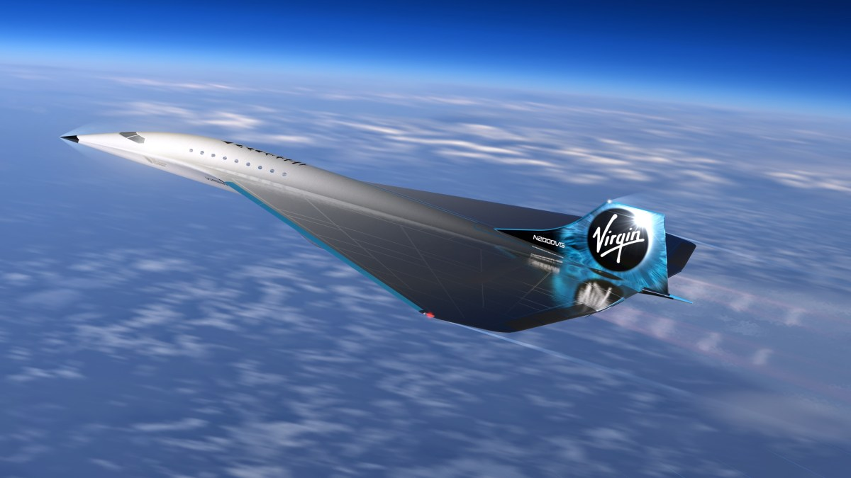 Virgin Galactic Mach 3 airplane