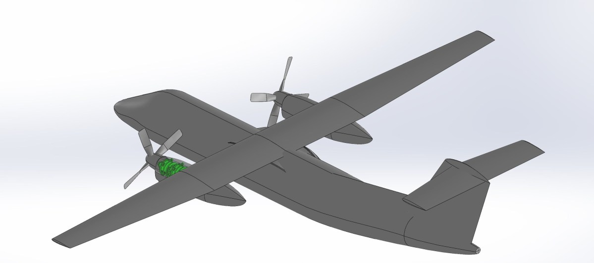 Dash 8 with hydrogen-electric power