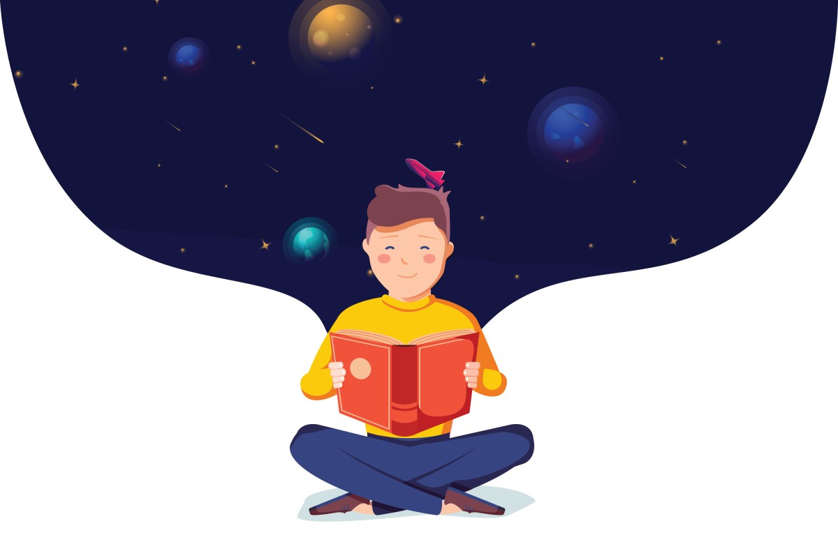Illustration: The universe in books