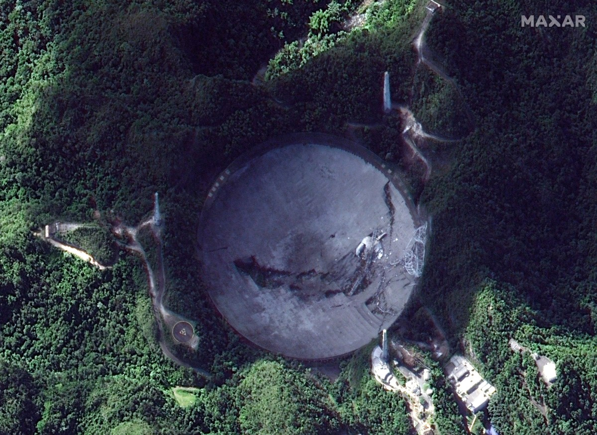 Arecibo as seen by satellite