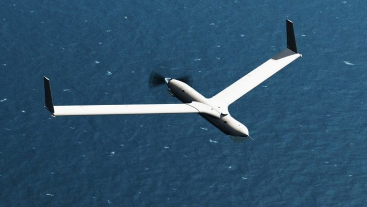 ScanEagle drone in flight