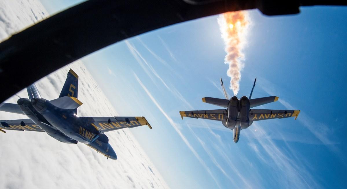 Super Hornets in flight