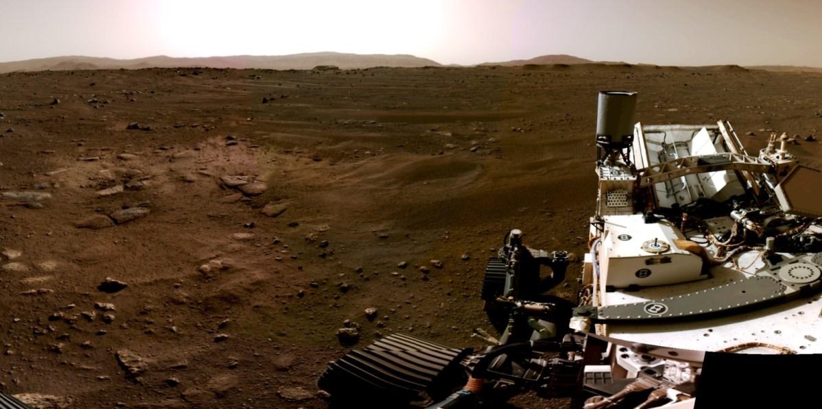 Perseverance panorama on Mars
