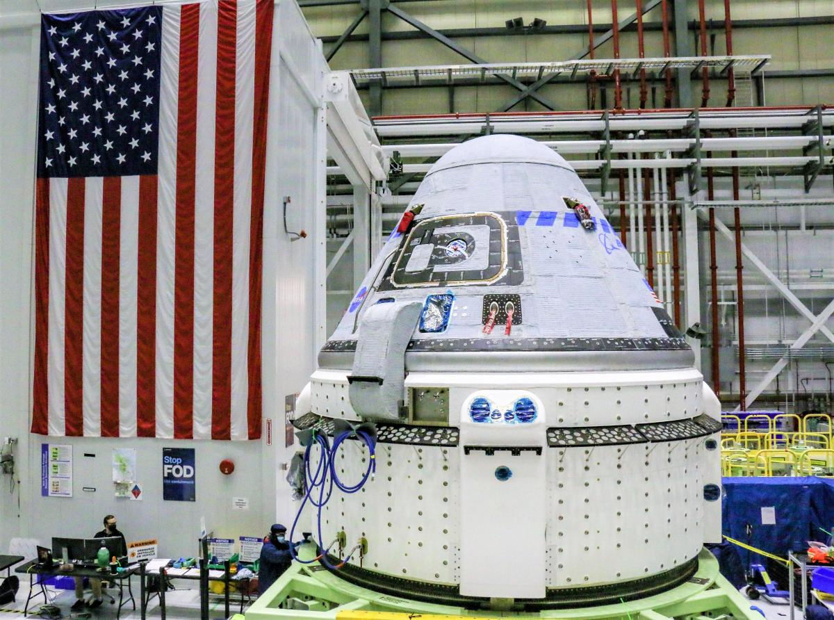 Starliner capsule