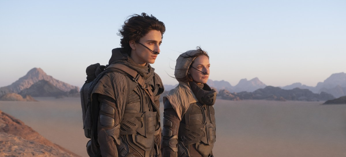 "Timothée Chalamet and Rebecca Ferguson in ""Dune"""