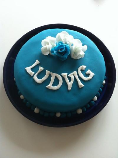 En blå prinsesstårta! :)