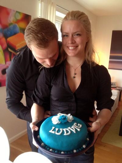 L och jag och tårta.