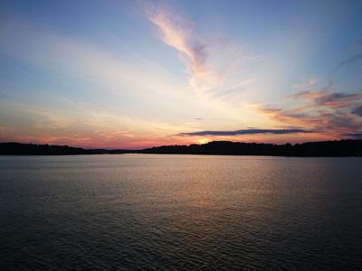 Vacker solnedgång.