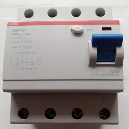 100A, 4Pole RCCB Breaker, ABB