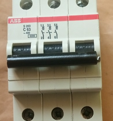 MCB 63A 3 pole