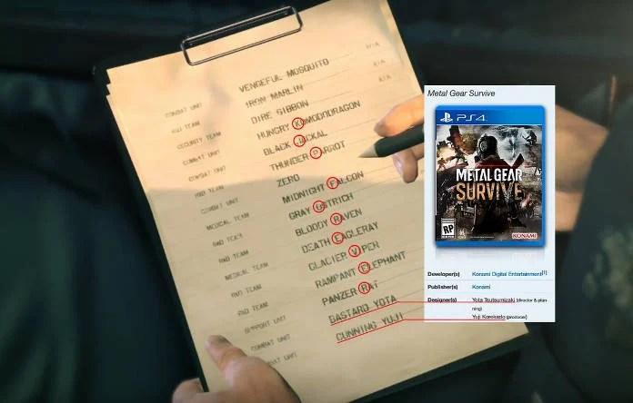 Dev Metal Gear Survive - messages cachés