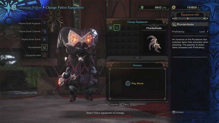Monster Hunter World - Palico - Sabre Pirate - guide