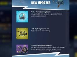 Fortnite - Des informations sur les prochaines armes et objets