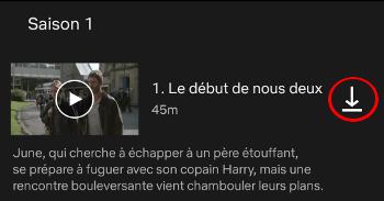 Netflix Guide Telechargement - Icone pour lancer le téléchargement