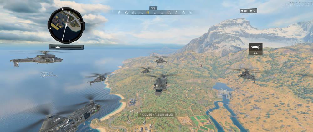 Call of Duty Black Ops 4 - début de partie - wingsuit