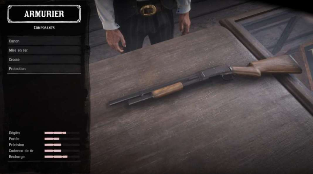 Red Dead Redemption 2 - Customiser les armes - Composants