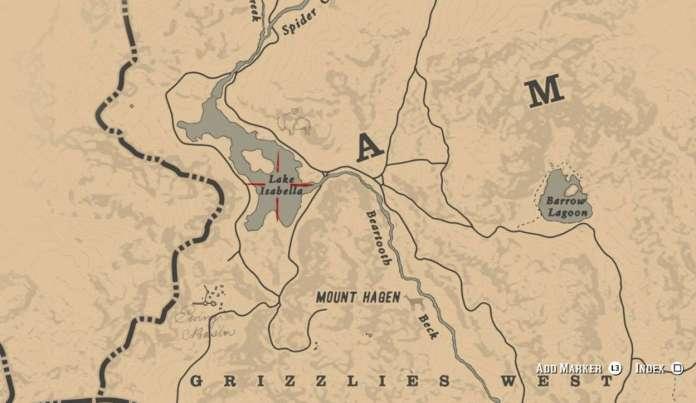 Red Dead Redemption 2 Meilleur Cheval - emplacement carte
