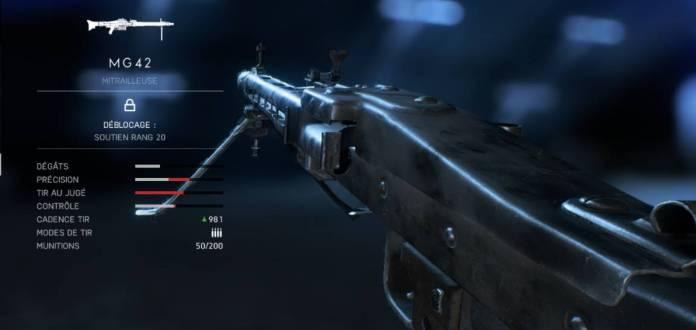 BF5 Meilleures Armes - soutien - MG42