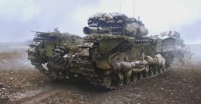 Battlefield 5 Renfort d'escouade - Le Churchill Crocodile Tank