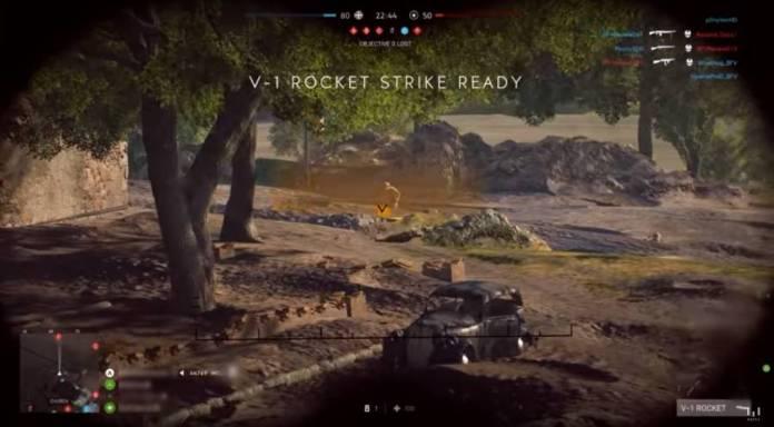 Battlefield 5 roquettes sélection de la cible avec les jumelles