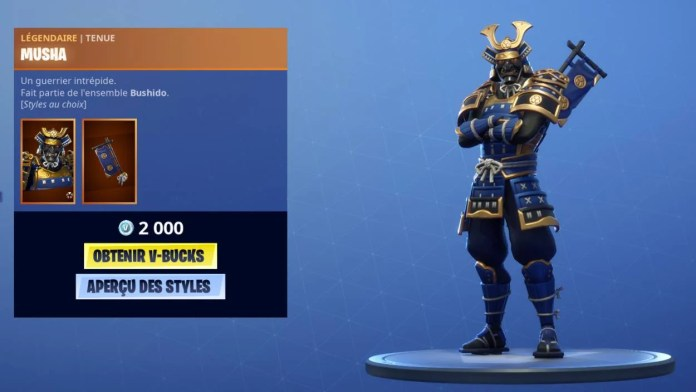 Fortnite Boutique 6 novembre - Musha