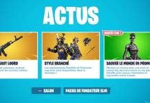 Fortnite Boutique 6 novembre - actus