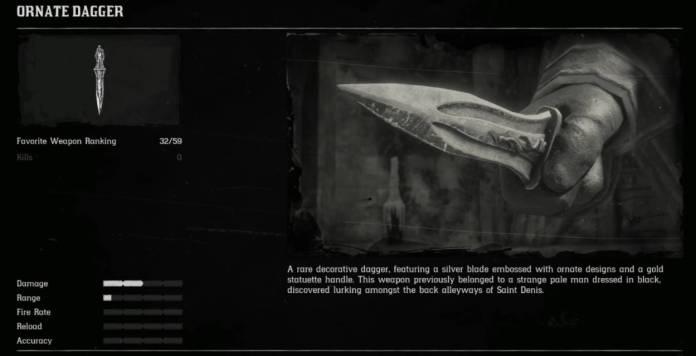 RDR2 Vampire - dague ornée