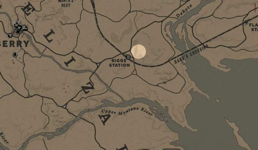 RDR2 emplacement Trappeur 3 près de Riggs Station - trappeur 3