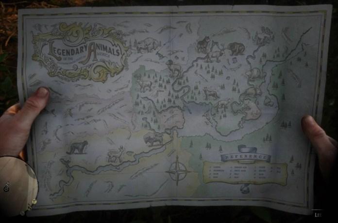 Red Dead Redemption 2 Animaux Légendaires - Les emplacements