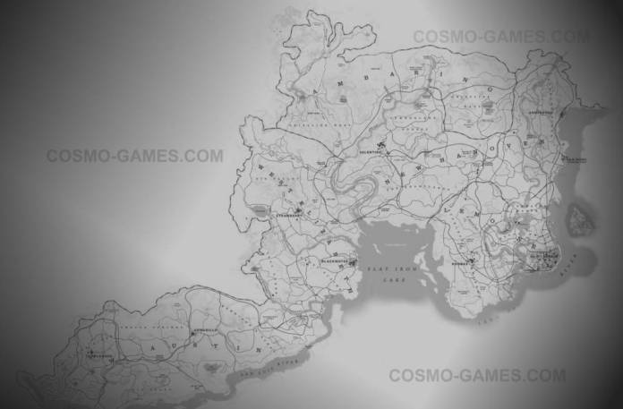 Red Dead Redemption 2 Carte - La map complète du monde de RDR2 - titre