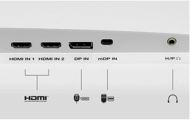 connectiques du LG 32QK500-W