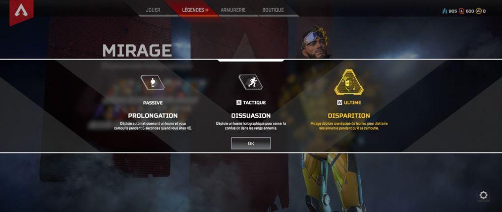 Mirage capacités - Apex Legends