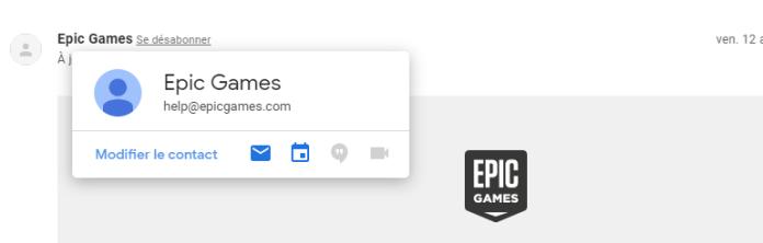 Modifier le contact - comment ajouter un contact dans Gmail