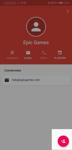 Modifier un contact Gmail mobile