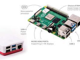 Raspberry Pi 4 - vidéo 4K, plus rapide, USB-C, USB 3, Gigabit