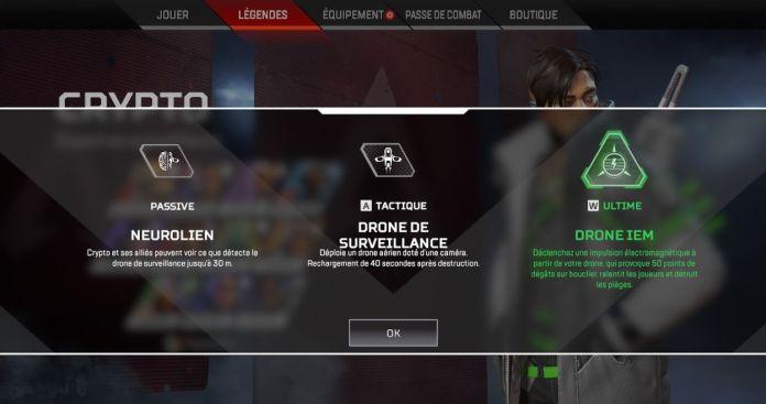 Crypto compétences - Apex Legends
