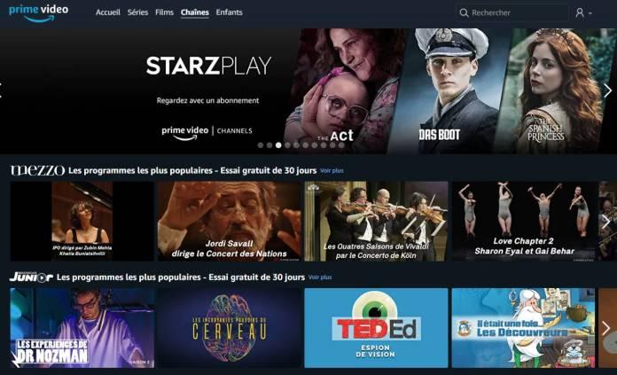 Prime Video Channels ajoute des chaines TV en streaming