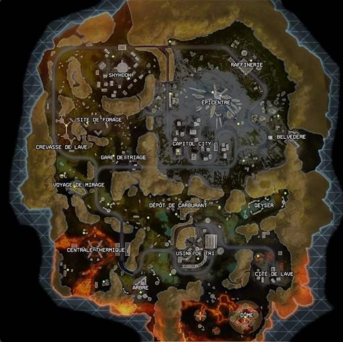 Carte Bord du monde - Apex Legends