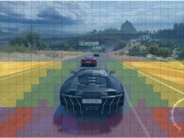 VRS Appliqué sur un jeu vidéo de course automobile