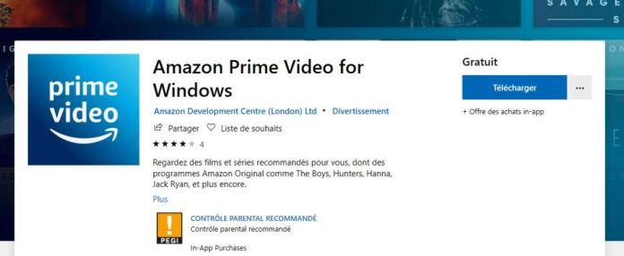 Télécharger et installer Prime Video sur Windows 10