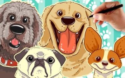 How To Draw Cartoon Dog Pet Portrait