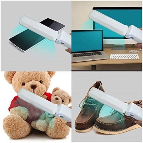 UV Light Mini Sanitizer Wand Handheld Portable Ultraviolet Sterilizer Car Pet