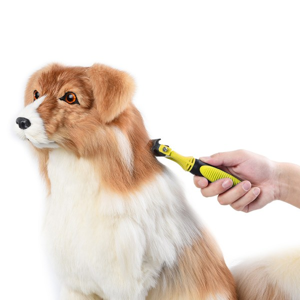 Double Sides Pet Dog Fur Brush Comb Dog Cat Grooming Deshedding Trimmer Tool Pet Rake 12/23 Blades